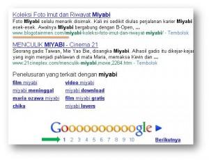 Miyabi 10 besar Google