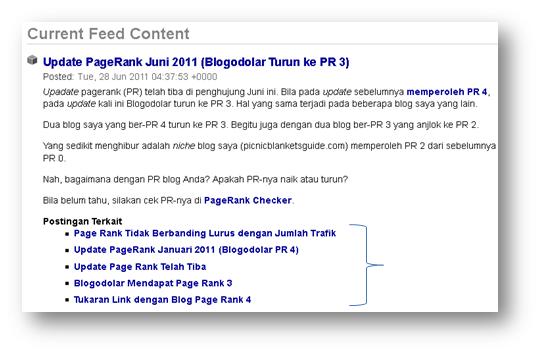 Postingan terkait di RSS feed