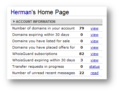 my domain at NameCheap