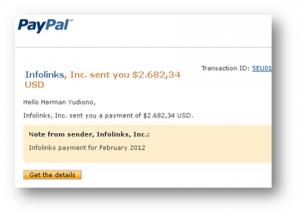 Pembayaran Kedua dari Infolinks ($2.682,34)