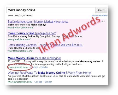 make money online SERP