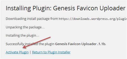 Activate Genesis Favicon Uploader