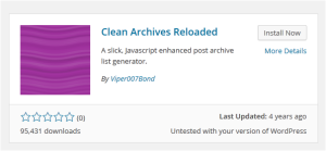 Cara Membuat Arsip dengan Plugin Clean Archives Reloaded