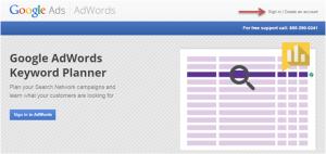 Cara Menggunakan Google AdWords Keyword Planner
