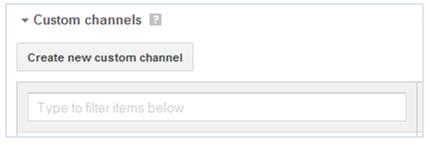 Custom channels