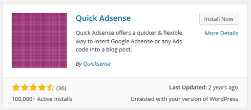 Deskripsi Quick Adsense