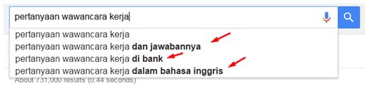 Contoh Google Suggest