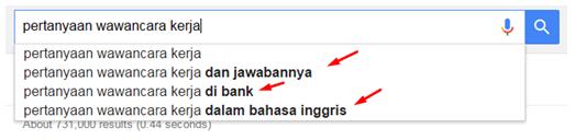 Contoh Google Suggest