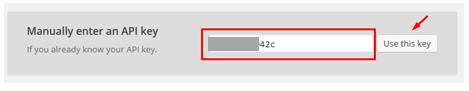 Memasukkan API key