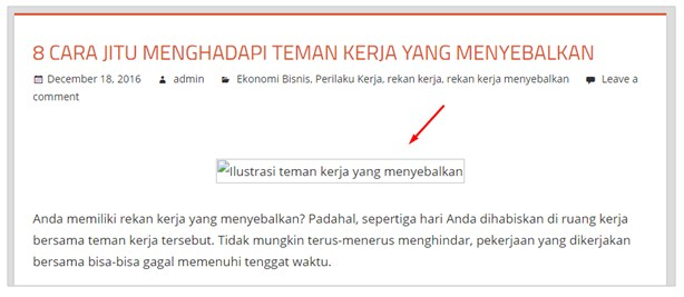 Contoh hasil Hotlink Protection