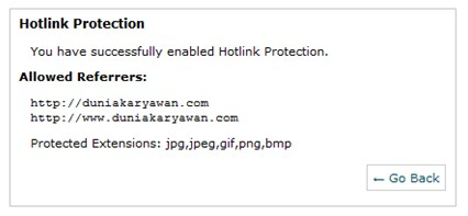 Enabled protection