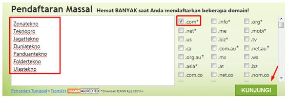 Pengecekan nama domain di GoDaddy