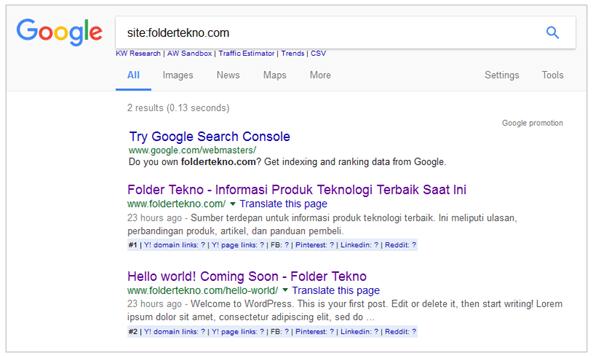 Terindeks Google