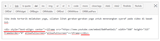 Kode text align center