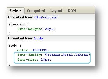 tampilan CSS