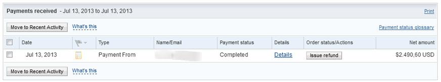 PayPal Juli 2013