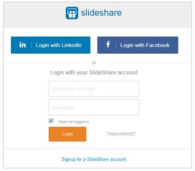 Login ke SlideShare