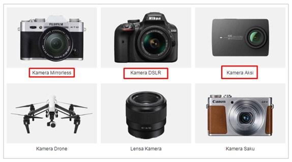 Kategori kamera Lazada