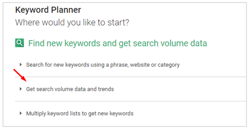 Get search volume data