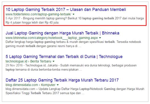 SERP laptop gaming terbaik
