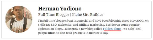 Profil saya di Quora