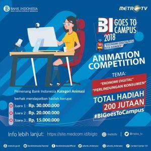 Kategori kompetisi Animasi BI Goest to Campus