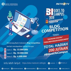 Kompetisi blog BI goes to campus 2018